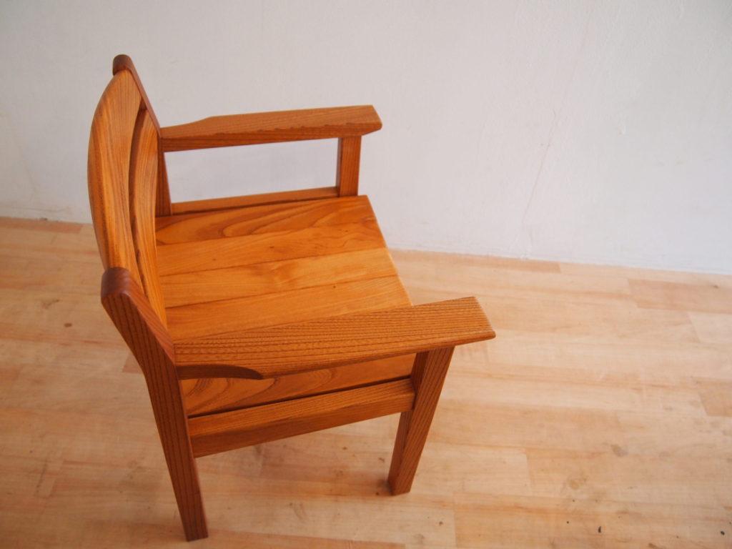 子供椅子 ケヤキ