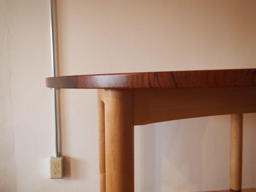 チーク 丸テーブル メープル