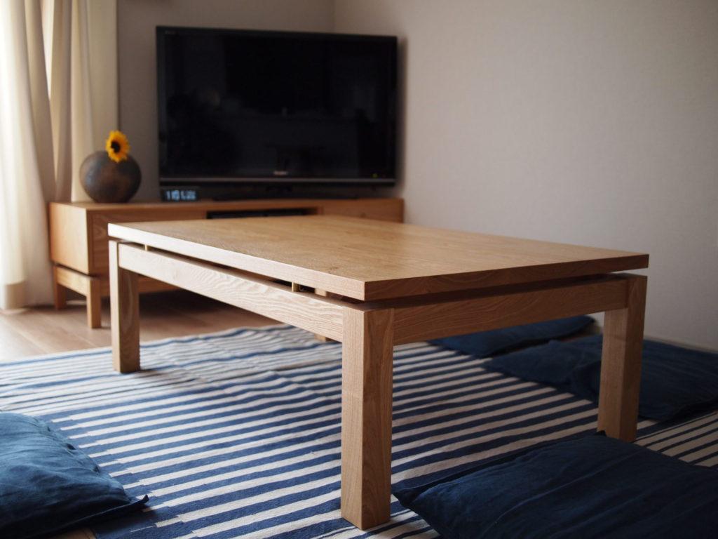 タモ 座卓 リビングテーブル