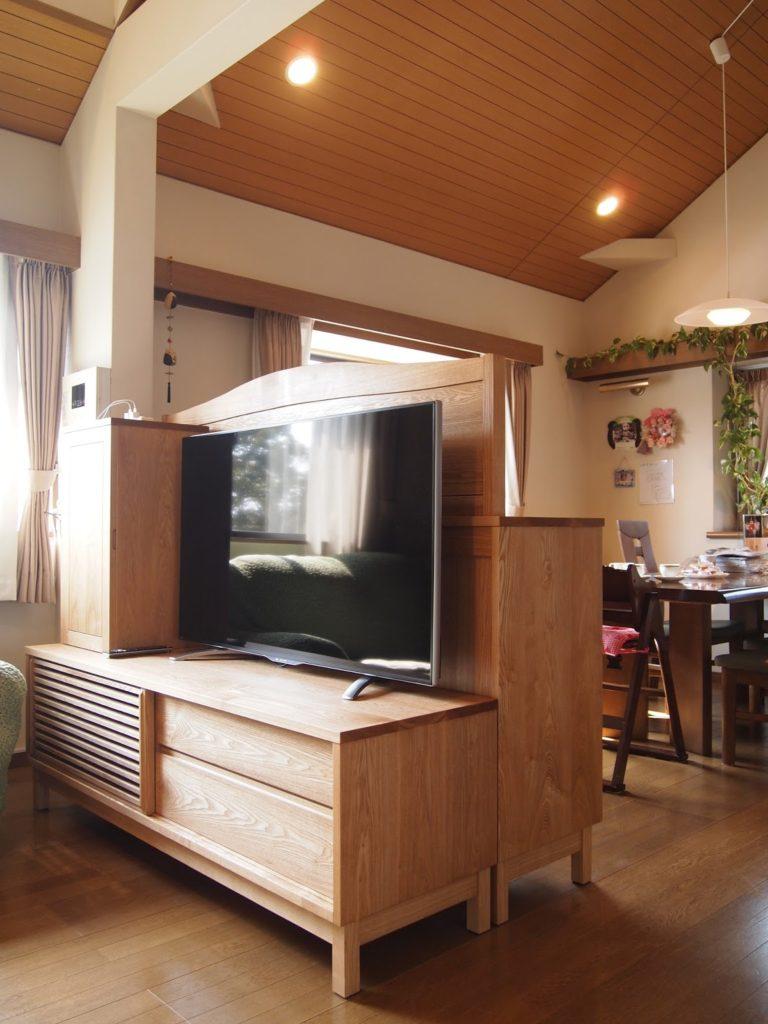 テレビボード タモ
