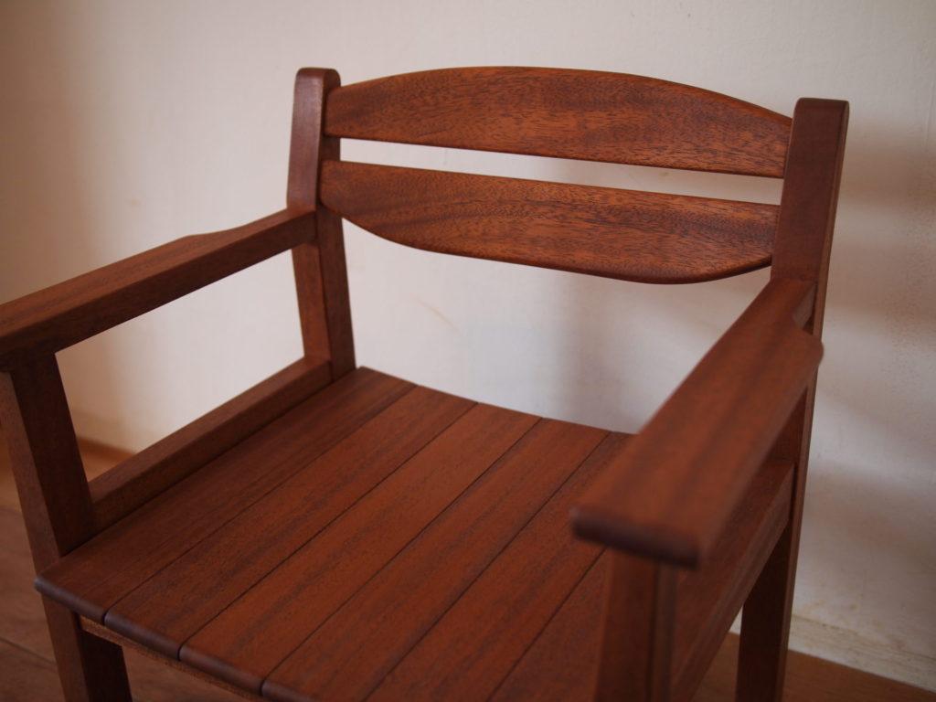 マホガニー 子供椅子