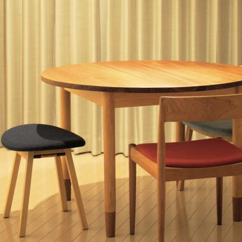 丸テーブル 円卓 チーク メイプル