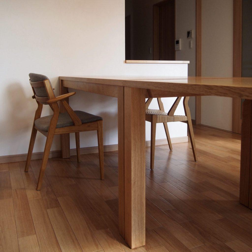 テーブル2台 ナラ