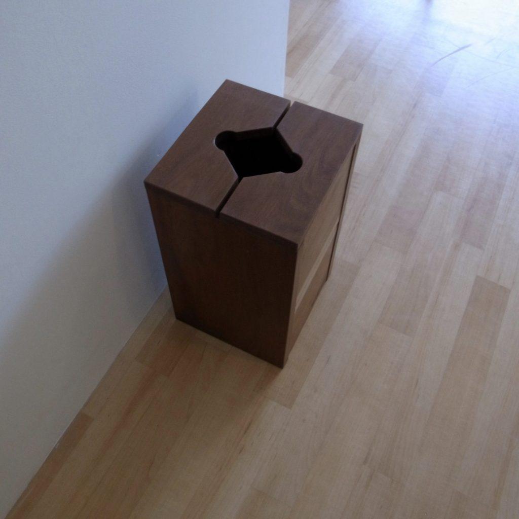 ゴミ箱 無垢 木製