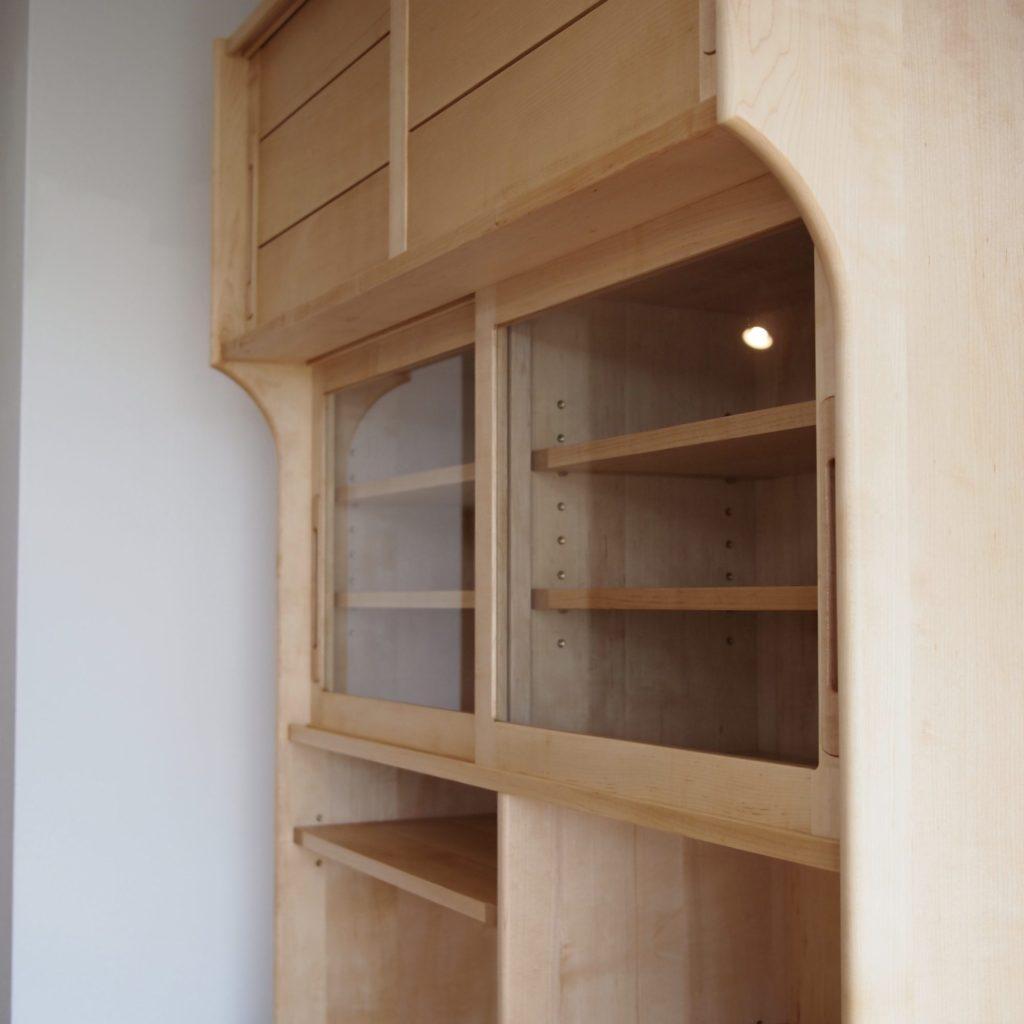 食器棚棚 メープル