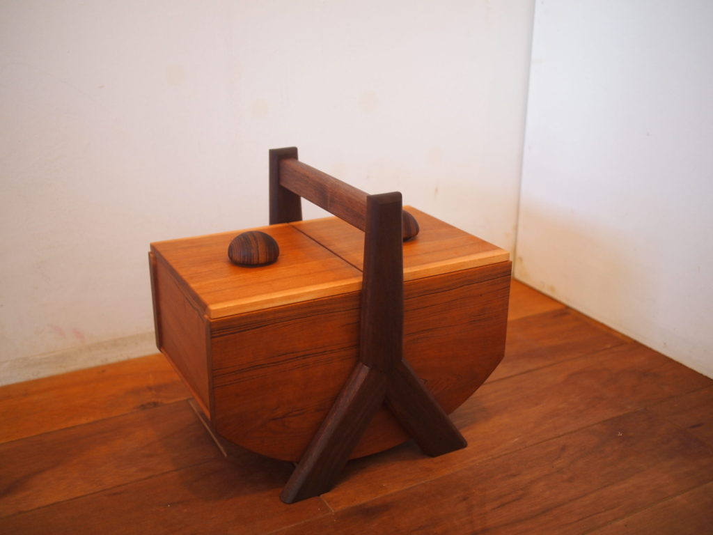 ソーイングボックス 裁縫箱 チーク ウォルナット 桜 チェリー