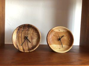 木の時計 クス ケヤキ